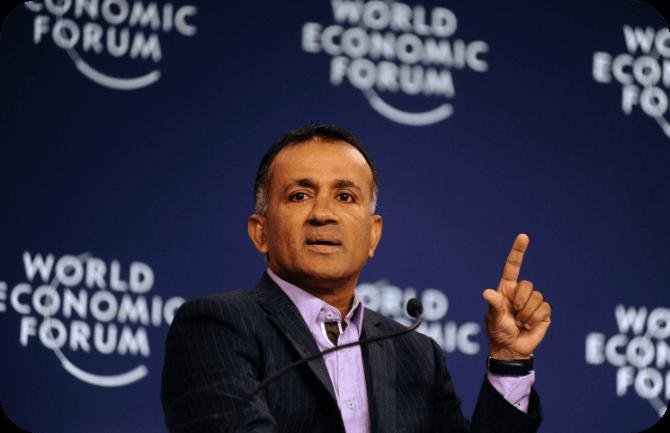 Chandran at WEF