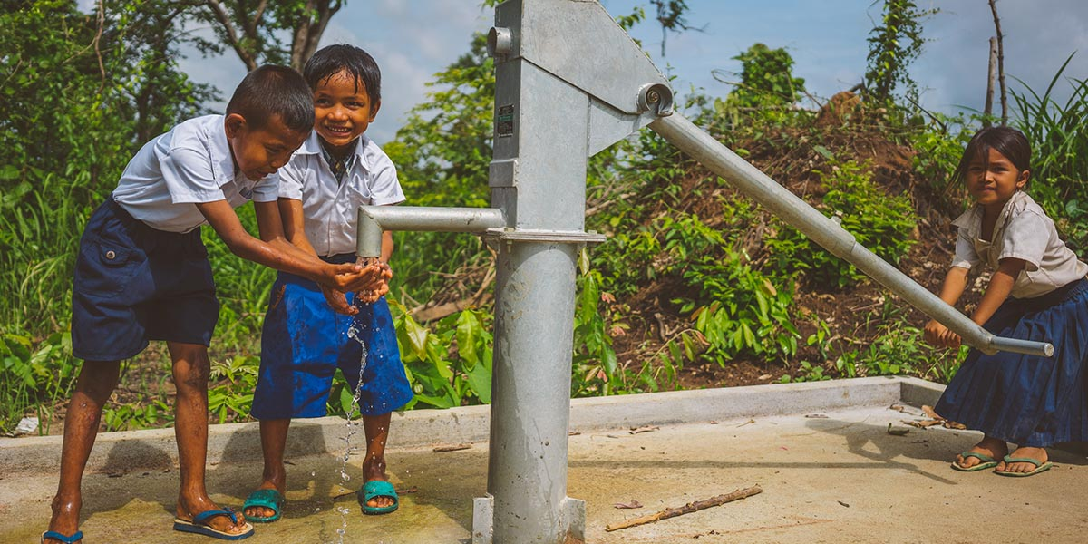 A new well at a school means better health for children.